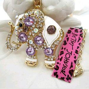 Betsey Johnson Jewelry - Stunning Betsey Johnson Elephant Sweater Necklace